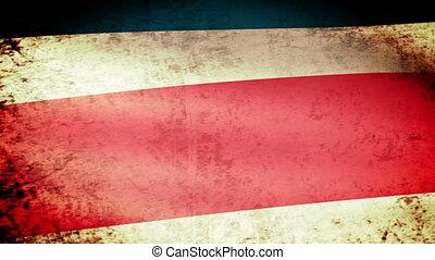 Costa Rica Flag Waving, grunge