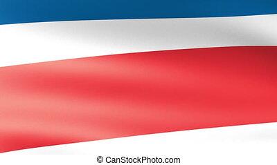 Costa Rica Flag Waving