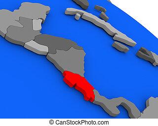 Costa Rica in red