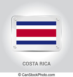 Costa Rica Independence day design card vector