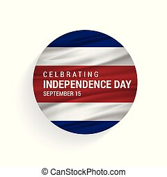 Costa Rica independence day with flag vector illustration for web