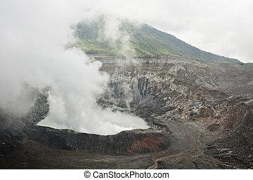 Poas Volcano Crater - Costa Rica - Poas Volcano National...
