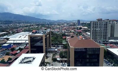 Costa Rica, San Jose capital city Street downtown with...