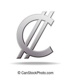 Costa Rican and Salvadoran colon currency symbol, vector...