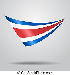 Costa Rican flag background. Vector illustration. - Costa...