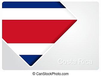 Costa Rican flag design background. Vector illustration. -...