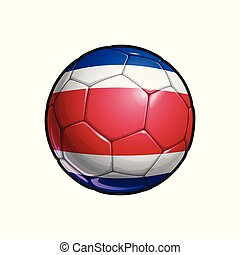 Costa Rican Flag Football - Soccer Ball
