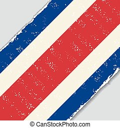 Costa Rican grunge flag. Vector illustration. - Costa Rican...