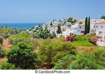 costa, sol, paysage, nerja, del, espagnol, espagne