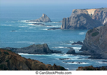 Costa Vicentina - West coast of Portugal and its cliffs.