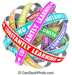 costantemente, cultura, continuo, crescita, educazione,...