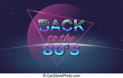 costas, para, 80's, cartaz