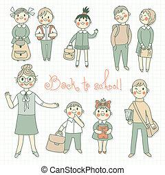 costas, professor, school., students.