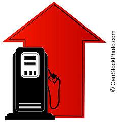 coste, levantamiento, combustible