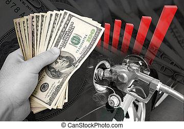 costes, levantamiento, combustible