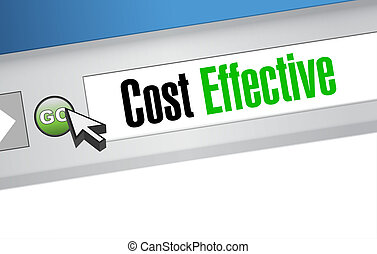 costo, efficace, linea, amministrazione, segno, concetto