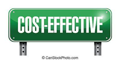 costo, efficace, segno strada
