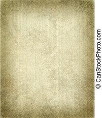 costoluto, pergamena, con, cornice