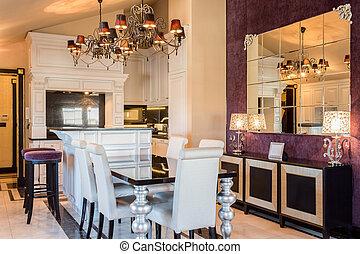 costoso, casa, en, estilo barroco