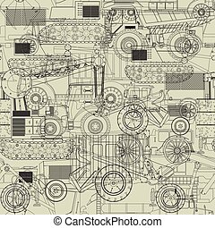 Costruction vehicles pattern