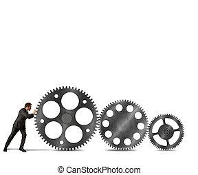 costruire, affari, sistema