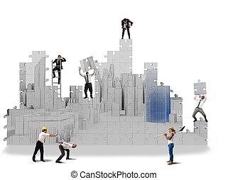 costruire, progetti, 3d