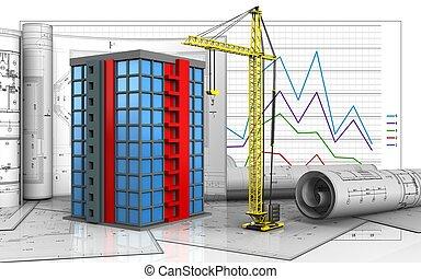 costruzione, 3d