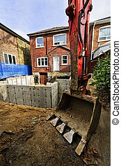 costruzione, addizione, a, casa