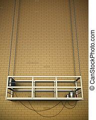 costruzione, ascensore