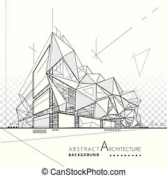 costruzione, astratto, architettonico