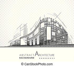 costruzione, astratto, architettura