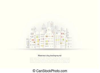 costruzione, astratto, carta, fondo, 3d