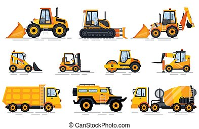 costruzione, auto, ingegneria, vettore, veicolo