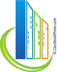 costruzione, beni immobili, logotipo