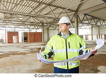 costruzione, caposquadra, luogo costruzione