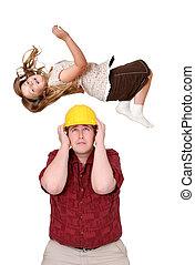 costruzione, capretto