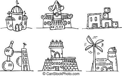 costruzione, cartone animato