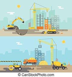 costruzione casa, composizione