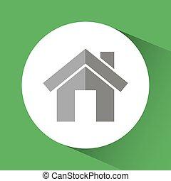 costruzione, casa, disegno, casa