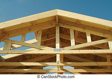 costruzione, casa, incorniciatura