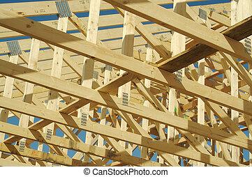 costruzione casa, incorniciatura