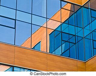 costruzione, centro, mosca, moderno, vetro, nuovo