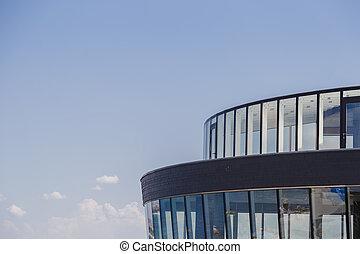costruzione, cielo blu, moderno, contro, design.