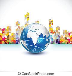 costruzione, città, concetto, comunicazione, astratto, mondo