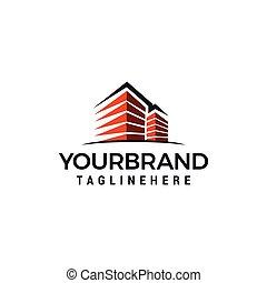 costruzione, città, disegno, sagoma, logotipo