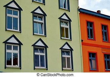 costruzione, città, piccolo, sei, windows