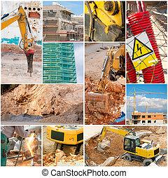 costruzione, collage
