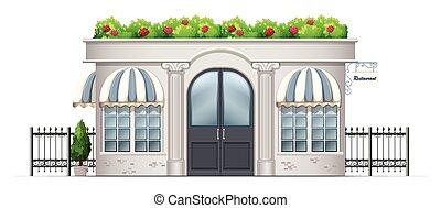 costruzione, commerciale, piante, tetto