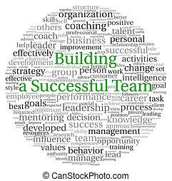 costruzione, concetto, parola, etichetta, squadra, nuvola