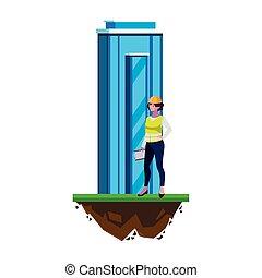 costruzione, costruttore, costruzione, femmina